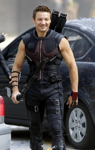 Jeremy Renner wallpaper possibly with a hip boot, an automobile, and a diving suit called Hawkeye