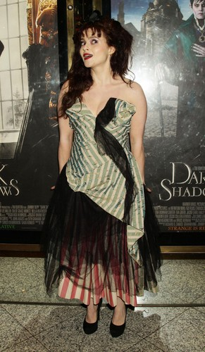 Tim Burton's Dark Shadows wallpaper containing a cocktail dress, a dress, and a kirtle called Helena Bonham Carter - Dark Shadows London Premiere