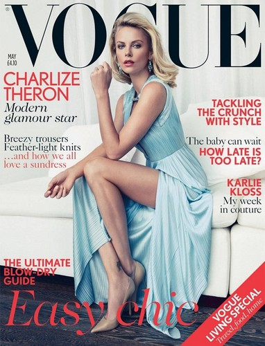 Hollywood actress Charlize Theron for Vogue UK May 2012 - charlize-theron Photo