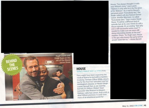 House Finale- Entertainment Weekly - 11.05.2012