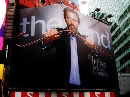 House The End Billboard Times Square 2012 NYC