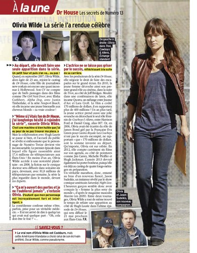 (House MD) Télé-7-Jours-May-12 Magazine Scans - house-md Photo