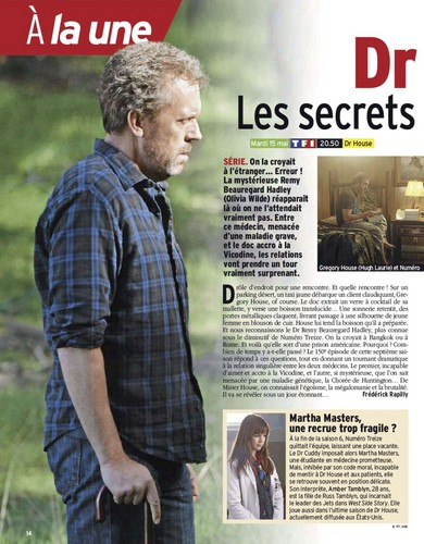 (House MD) Télé-7-Jours-May-12 Magazine Scans