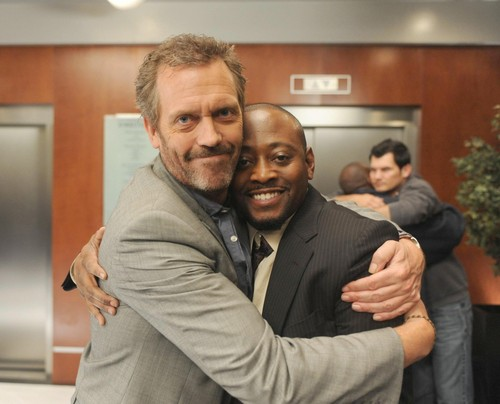 Hugh Laurie and Omar Epps- House M.D.Swan Song (Retro-Special) - BTS Picture