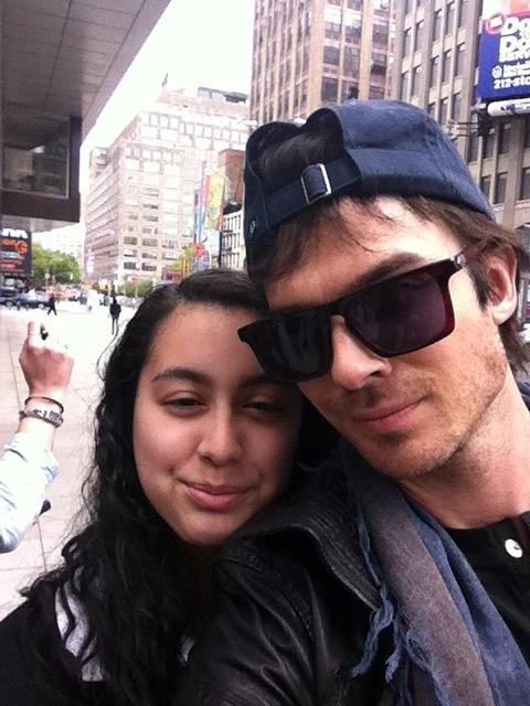 Ian & Nina leaving the Trump Soho Hotel in New York (May 8, 2012)