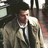 Castiel photo probably with a business suit entitled It's the great pumpkin, Sam Winchester
