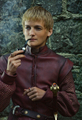 Jack Gleeson smoking a pipe on the set of Game of Thrones - game-of-thrones photo