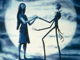 Jack and Sally from The Nightmare Before क्रिस्मस