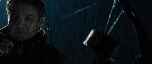 """Jeremy as Hawkeye in """"Thor"""""""