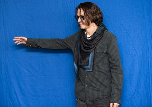 "Johnny Depp(interview)of the film""Dark Shadows""in Los Angeles on April29.2012"