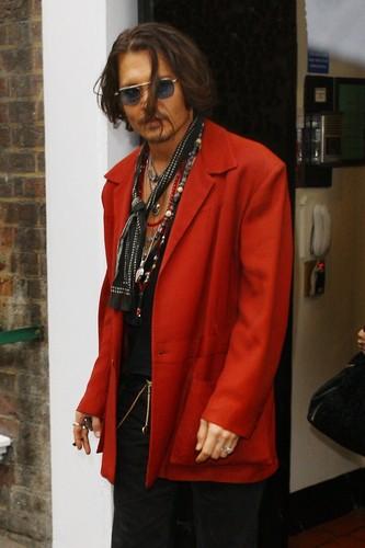 Johnny Depp seen leaving his hotel in London