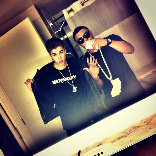 Justin Bieber and Alfredo Flores