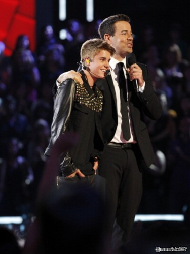 Justin performing on the Voice