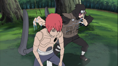 Kankuro and the new puppet sasori