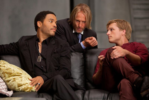 Katniss, Peeta, and Cinna