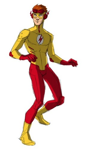 Justicia Joven fondo de pantalla probably containing anime called Kid Flash