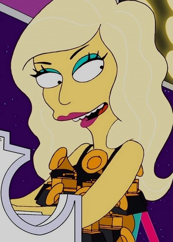 Lady GaGa at the Simpsons!