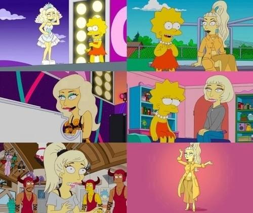 Lady GaGa on the Simpsons!