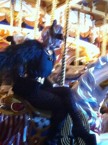 Lady Gaga at Disneyland in Tokyo, Japan.