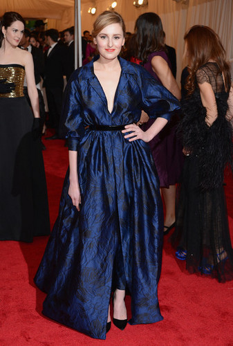 Downton Abbey fondo de pantalla titled Laura Carmichael at MET Gala