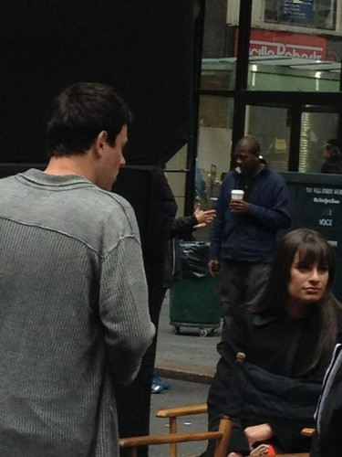 Lea and Cory filming in NYC