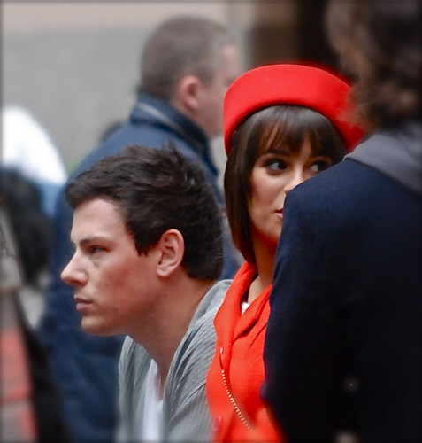 Lea filming in NYC