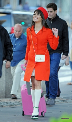 Lea filming in NYC - lea-michele Photo
