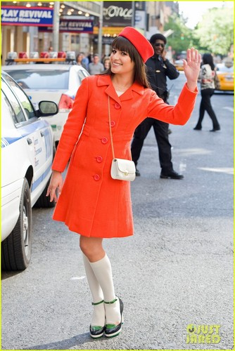 Lea in NYC - glee Photo