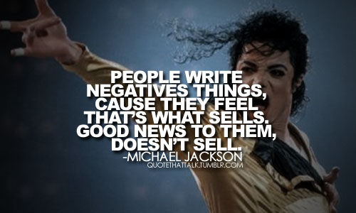 michael jackson succes quote