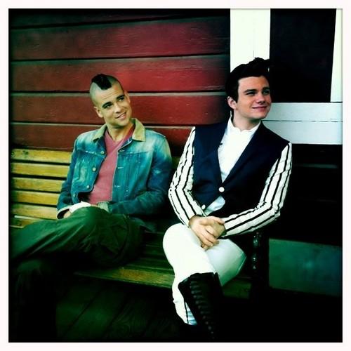 Mark and Chris on set
