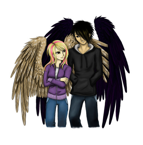 Maximum Ride kertas dinding entitled Max and Fang