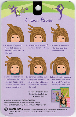 Dolls Hair Style Crowns Braids Braids Instructions American Girls