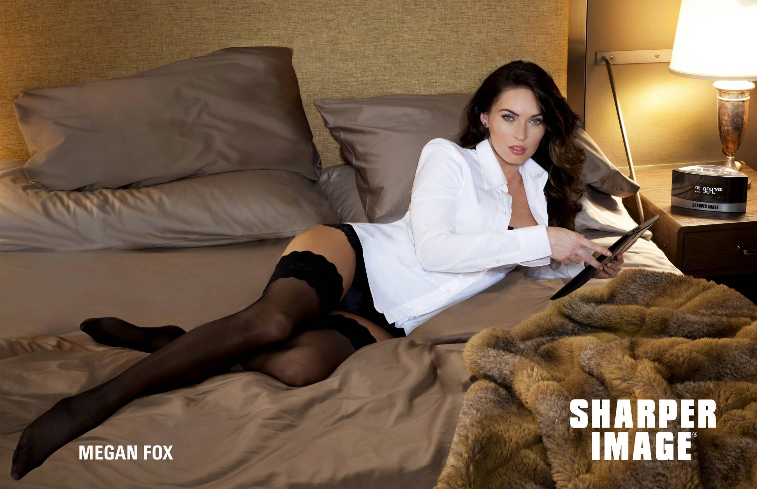 Megan Fox face of Sharper Image 2012