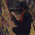 Michael Jackson reading in library (rare)♥ - michael-jackson photo