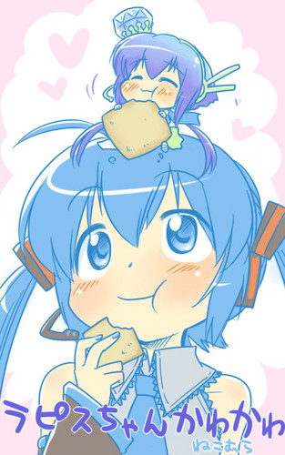 Miku Hatsune and Aoki Lapis ~♥