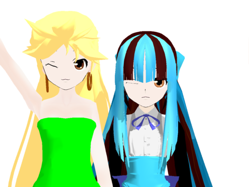 Miku and Miriam PSWG In MMD