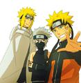 Minato, Naruto & Kakashi x3