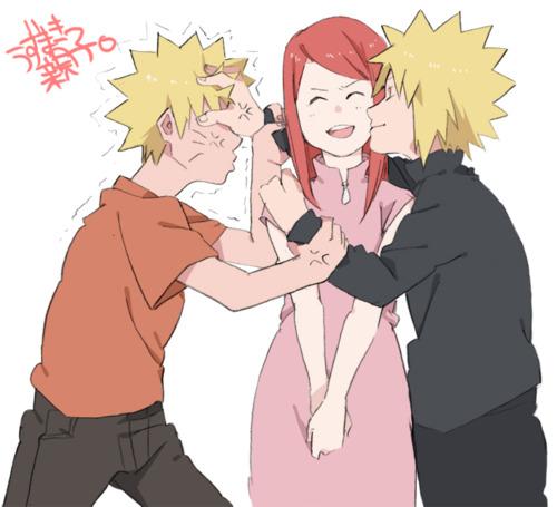 Minato Namikaze Hintergrund with Anime entitled Minato vs. Naruto xD