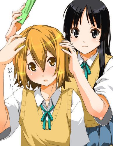 Mio and Ritsu