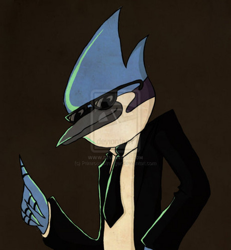 Regular Show Wallpaper Titled Mordecai With Swag