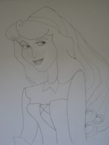 My attempt at Drawing Aurora today in my 2nd period :)