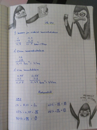 My math exercice book X3