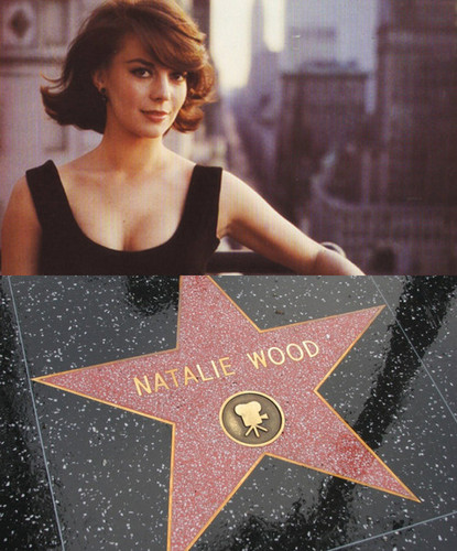 Natalie Wood wallpaper possibly containing a sign entitled Natalie and her Hollywood Star <3