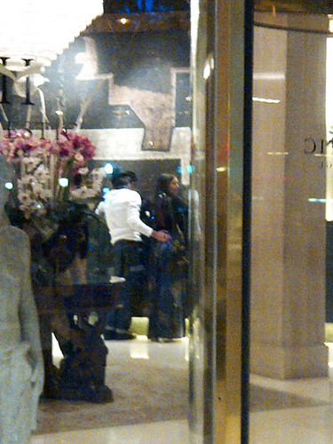 Ian Somerhalder and Nina Dobrev wallpaper possibly containing a revolving door titled Nian in Barcelona