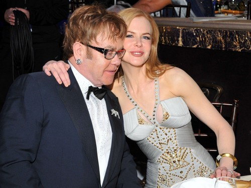 Nicole and Elton John