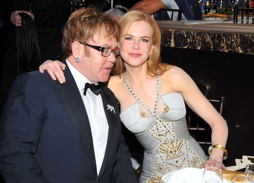 Nicole and Elton John