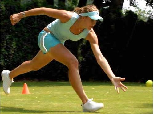 Nicole tennis training