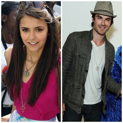Nina & Ian wearing the same neckless