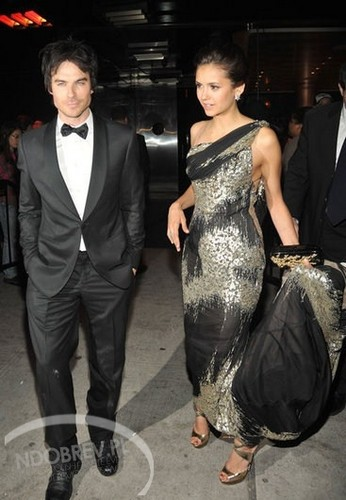 Nina and Ian Leaving the MET Gala - ian-somerhalder-and-nina-dobrev Photo