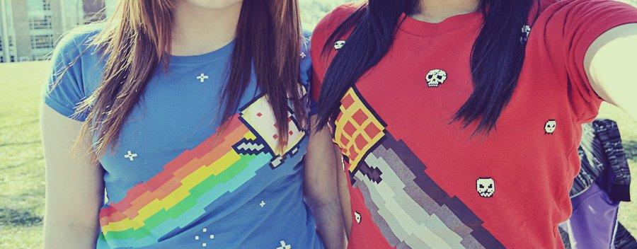 Nyan Cat &Tac Nayn shirt~